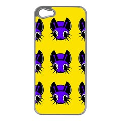 Blue and yellow fireflies Apple iPhone 5 Case (Silver)