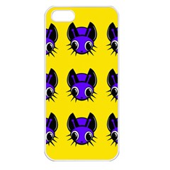 Blue and yellow fireflies Apple iPhone 5 Seamless Case (White)