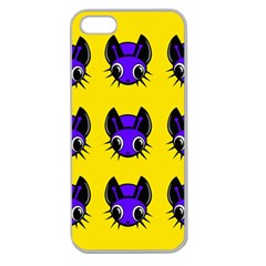 Blue and yellow fireflies Apple Seamless iPhone 5 Case (Clear)