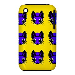 Blue and yellow fireflies Apple iPhone 3G/3GS Hardshell Case (PC+Silicone)