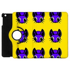 Blue and yellow fireflies Apple iPad Mini Flip 360 Case