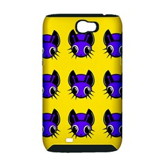 Blue and yellow fireflies Samsung Galaxy Note 2 Hardshell Case (PC+Silicone)