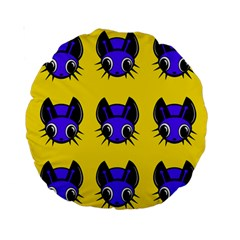 Blue and yellow fireflies Standard 15  Premium Round Cushions