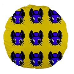 Blue and yellow fireflies Large 18  Premium Round Cushions