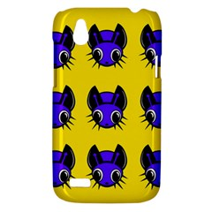 Blue and yellow fireflies HTC Desire V (T328W) Hardshell Case