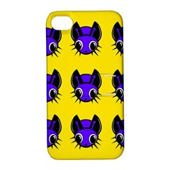 Blue and yellow fireflies Apple iPhone 4/4S Hardshell Case with Stand