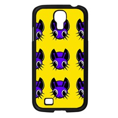 Blue and yellow fireflies Samsung Galaxy S4 I9500/ I9505 Case (Black)