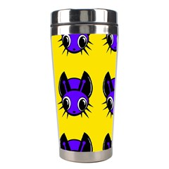 Blue and yellow fireflies Stainless Steel Travel Tumblers