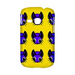 Blue and yellow fireflies Samsung Galaxy S6310 Hardshell Case