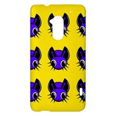 Blue and yellow fireflies HTC One Max (T6) Hardshell Case