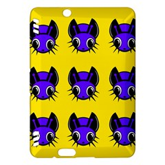 Blue and yellow fireflies Kindle Fire HDX Hardshell Case