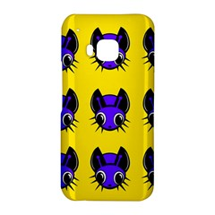Blue and yellow fireflies HTC One M9 Hardshell Case