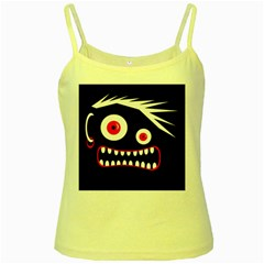 Crazy monster Yellow Spaghetti Tank