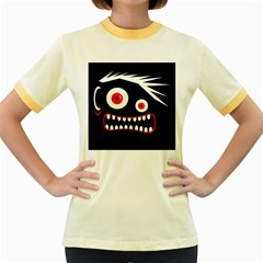 Crazy monster Women s Fitted Ringer T-Shirts