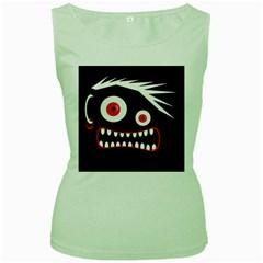 Crazy monster Women s Green Tank Top