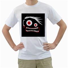 Crazy monster Men s T-Shirt (White) (Two Sided)