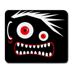 Crazy monster Large Mousepads
