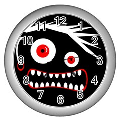 Crazy monster Wall Clocks (Silver)