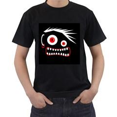 Crazy monster Men s T-Shirt (Black) (Two Sided)