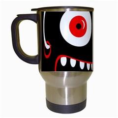 Crazy monster Travel Mugs (White)