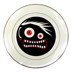 Crazy monster Porcelain Plates
