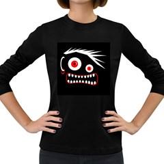Crazy monster Women s Long Sleeve Dark T-Shirts