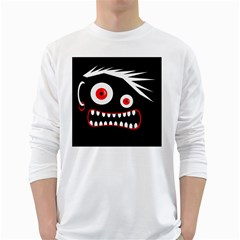 Crazy monster White Long Sleeve T-Shirts