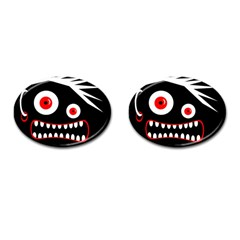 Crazy monster Cufflinks (Oval)