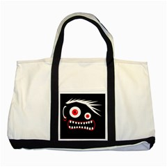 Crazy monster Two Tone Tote Bag