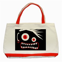 Crazy monster Classic Tote Bag (Red)