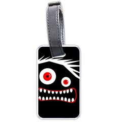 Crazy monster Luggage Tags (One Side)