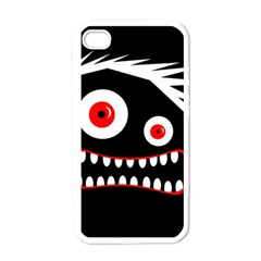 Crazy monster Apple iPhone 4 Case (White)