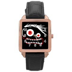 Crazy monster Rose Gold Leather Watch