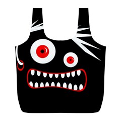 Crazy monster Full Print Recycle Bags (L)