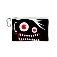 Crazy monster Canvas Cosmetic Bag (S)