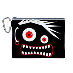 Crazy monster Canvas Cosmetic Bag (L)