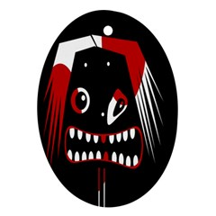 Zombie face Ornament (Oval)