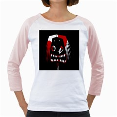 Zombie face Girly Raglans