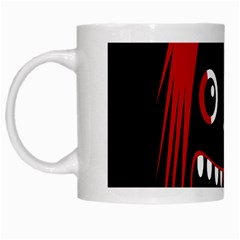 Zombie Face White Mugs