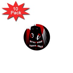 Zombie face 1  Mini Magnet (10 pack)