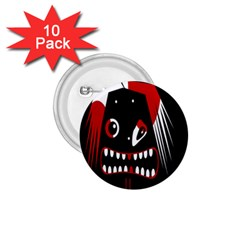 Zombie face 1.75  Buttons (10 pack)