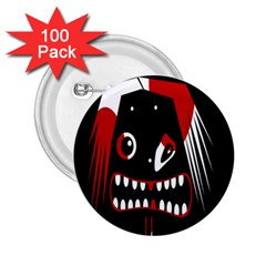 Zombie face 2.25  Buttons (100 pack)