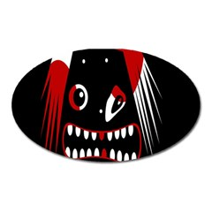 Zombie Face Oval Magnet
