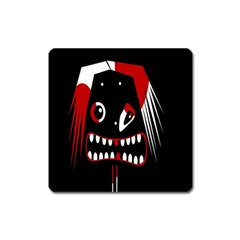 Zombie Face Square Magnet