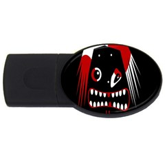 Zombie face USB Flash Drive Oval (1 GB)