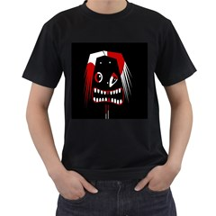 Zombie face Men s T-Shirt (Black) (Two Sided)
