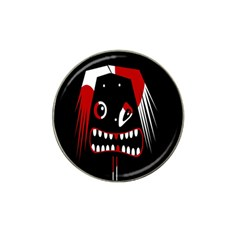 Zombie face Hat Clip Ball Marker (4 pack)