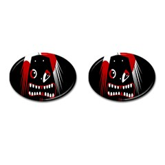 Zombie face Cufflinks (Oval)