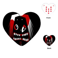 Zombie face Playing Cards (Heart)