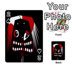 Zombie face Playing Cards 54 Designs